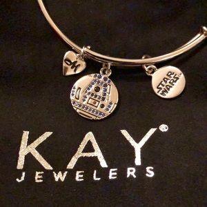 Kay Jewelers Star Wars R2-D2 Bangle Charm Bracelet